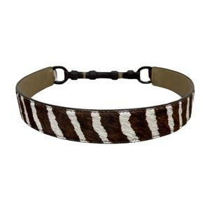 Talbots Zebra Calf Hair Waist Belt M Leather